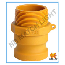 Male BSPT Threaded Nylon Cam and Groove Couplings