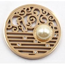 Plaque de monnaie en acier inoxydable 316L de haute qualité avec perle