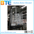 Traction Vvvf Circular Panoramic Passenger Elevator with Horizontal Rotating