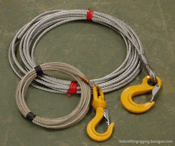 wire rope sling with hook