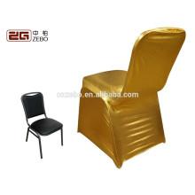 Wholesale Cheap Factory Direct Sale Golden Banquet Stretch Chair Cover