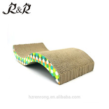 2018 Excellece of Quality Cardboard Cat Face Scratcher Board Corrugated Scratching Post CS-3003