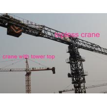 Turmdrehkrane Hst 5610 in Flat-Top-Ausführung Hergestellt in China von Hsjj