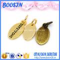 Mini charme de logo de forme ovale personnalisé pour bijoux