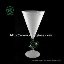 Single Wall Frosting Wine Glass (DIA10.5*22)