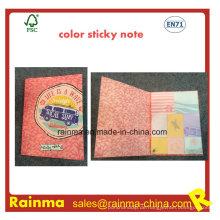 Farbdruck Sticky Notebook mit OEM-Design