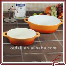 Цветной дизайн керамический суп горшок набор из двух
