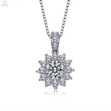Fashion Jewelry Flower Shape Pendant Snowflake Necklace For Girl