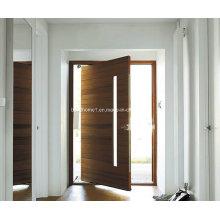 Prateleira residencial moderna porta de pivô de madeira