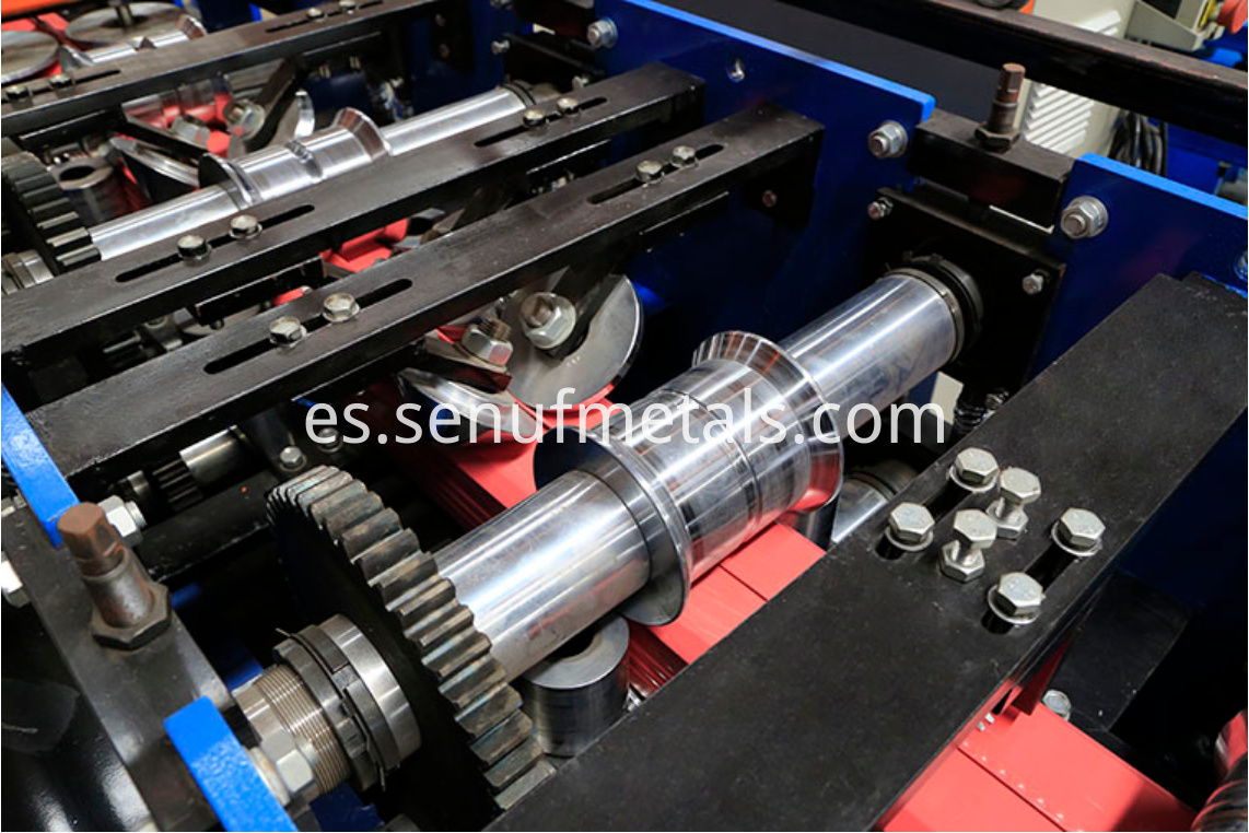 Downspout pipe forming machine rollers 3