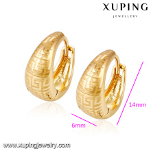 91938- Xuping Jewelry Fashion Gold Plated Hoop Earrings For Women With Promotion Price