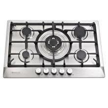 Plaque de cuisson au gaz à 5 brûleurs, cuisinière à gaz intégrée