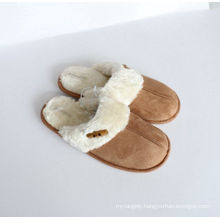 Women′s Indoor Slipper with Microfiber and Set Button