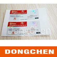 Étiquette de fiole d'hologramme de sécurité anti-Faux de la meilleure conception faite sur commande professionnelle