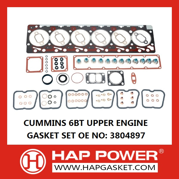 HAP-CS-S-015 3804897 CUMMINS 6BT UPPER ENGINE GASKET SET