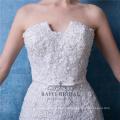 Schatz-kundenspezifische Hochzeits-Kleid-offene Rückseite Spitze-Nixe-Kleid Fishtail-Brautkleider Vestido De Novia