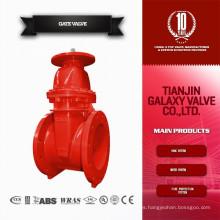 Fuego ul fm válvula de compuerta de agua de sello de alta presión