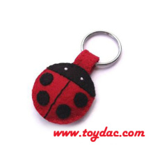 Plush Animal Felt Key Ring Bag