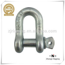 metal fasteners US Type Bolt and Nut Steel Drop Forged Safety Shackle made in china supplier