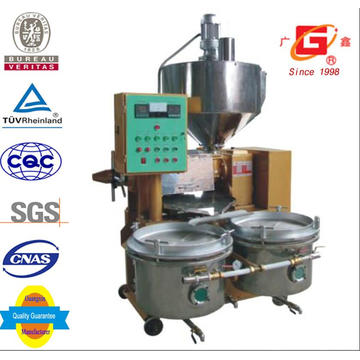 Máquina automática de prensa de aceite con filtro de aceite y aceite