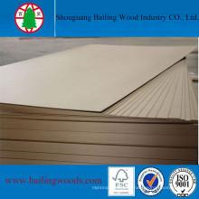 3 mm E0 Grade Plain / Raw MDF para el uso de muebles para el hogar