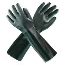 Green Long PVC Safety Gloves