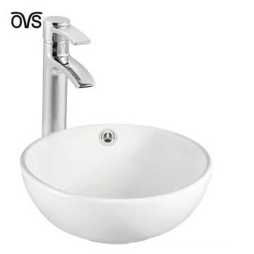 Lavabo redondo de calidad superior blanco