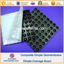 Geomembrana de hoyuelos de HDPE para ingeniería de construcción