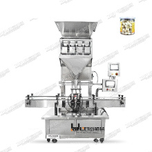 High quality Automatic beans grains Nuts walnut Coix seed Rice granule weighing filling machine for bottle with factory price