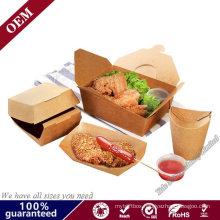 Custom Disposable Food Grade Cardboard Hamburger Packaging Paper Burger Box