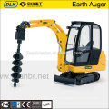 15-20tons excavator mounted hydraulic earth hole auger drilling machine