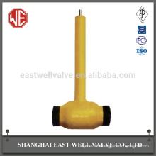 Hardness black lead fully welded ball valve