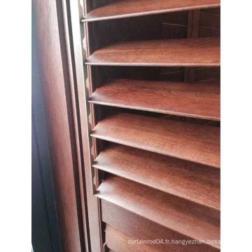 Stores de fenêtre en véritable volets en bois (SGD-S-6712)