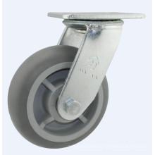 H16 Тяжелый тип двойного шарикоподшипника Резиновое промышленное колесо