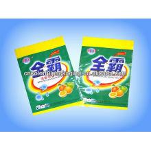 Sacos de empacotamento detergente do furo de suspensão OPP / PE do furo de lavagem do pó com impressão personalizada
