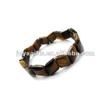 Bracelet à perles de pierres précieuses pour oeil tigre