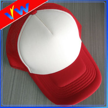 Regalo 5 tapa de panel en blanco Trucker Cap por mayor