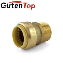 LB-GutenTop Ventes chaudes Haute qualité sans plomb cuivre cUPC laiton et plastique pousser en ajustement connecteur tuyau d'eau plomberie raccord