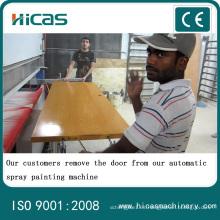 Máquina automática de pintura de pulverización de madera para puerta de gabinete