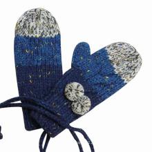 Senhora moda acrílico de malha de inverno quente luvas de vestido (yky5423)