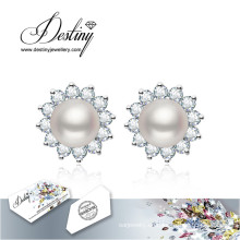Schicksal Schmuck Kristalle von Swarovski Ohrringe Perlen Blumen Ohrringe