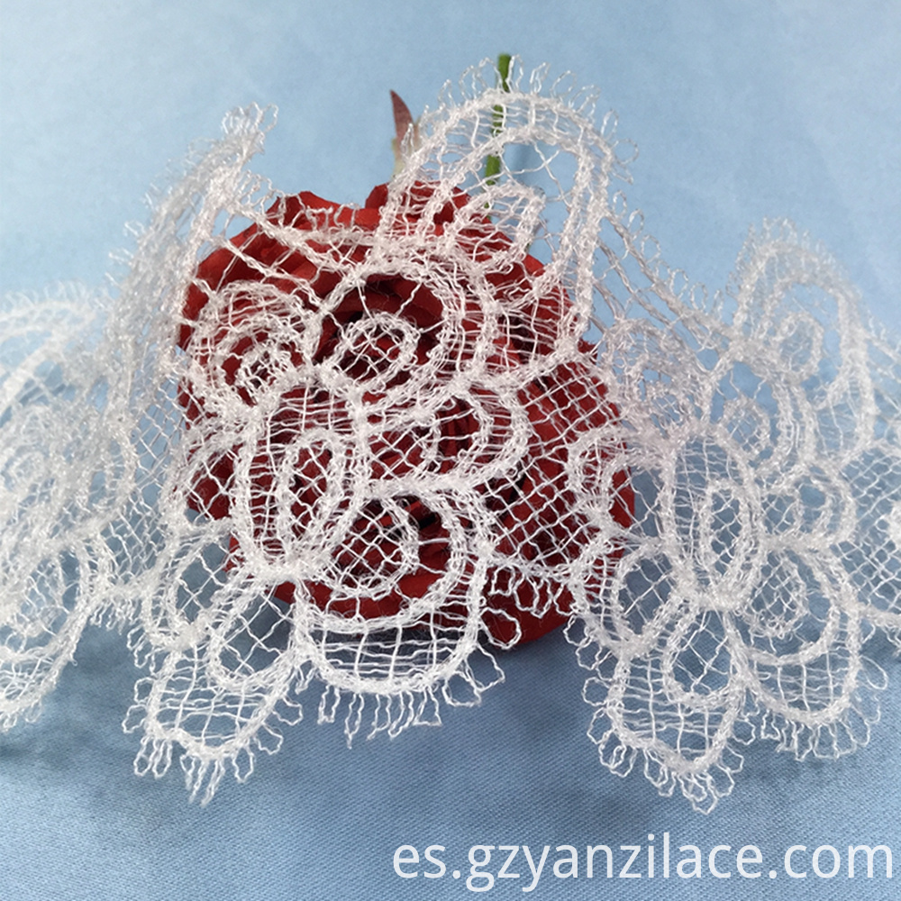 Embroidered Tulle Lace Trim