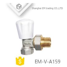EM-V-A159 Mâle union lock bouclier laiton Radiateur thermostatique angle vanne DN15