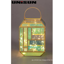 Christmas Decoration Light Glass Craft with Copper String LED Light for Wall Art (17105)