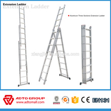 EN131 3 section aluminum ladder,extension ladders,aluminum extension ladders
