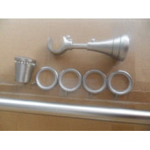 Satin Nickel Silent Curtain Rod Rings With Clips