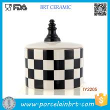 Pot de jeu d'échecs en céramique de bouteille de stockage décent