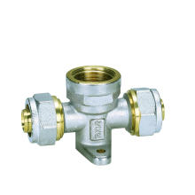 Tee Female in Brass for Water Pipe