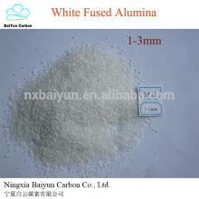 precio de corindón natural 99.5% Al2O3 pulido de acero abrasivo WFA alúmina fundida blanca