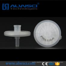 PTFE PP hidrófilo Tamanho do poro Filtro de 25mm de 0,2 micron com amostra grátis